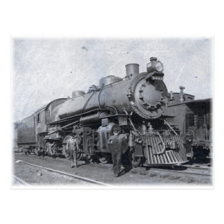 B & O Steam Locomotive 4013 Postcard
