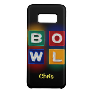 B O W L neon graphic with name Case-Mate Samsung Galaxy S8 Case