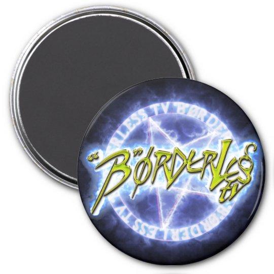 """B "" ørderless TV LOGO circular magnet"