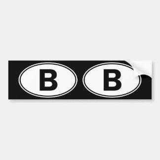 B Oval ID Bumper Sticker