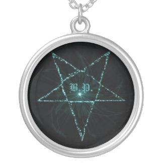 B.P. Logo Round Pendant Necklace