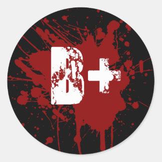 B Positive Blood Type Donation Vampire Zombie Classic Round Sticker