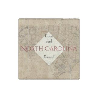 B&R State North Carolina Stone Magnet