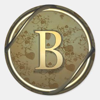 b round sticker