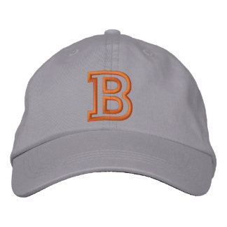 """B"" Small Athletic Letter Embroidered Baseball Cap"