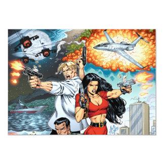 B@stard Stew Action Comic Art by Al Rio 13 Cm X 18 Cm Invitation Card
