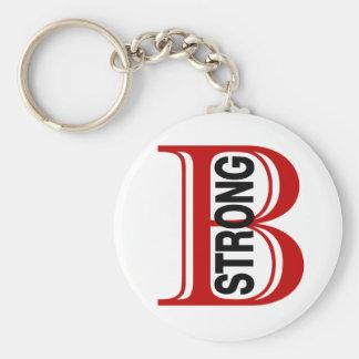 B Strong Boston Basic Round Button Key Ring
