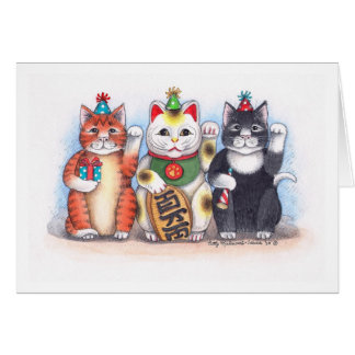 B & T  #62 Welcome Nekko Kitty Notecard