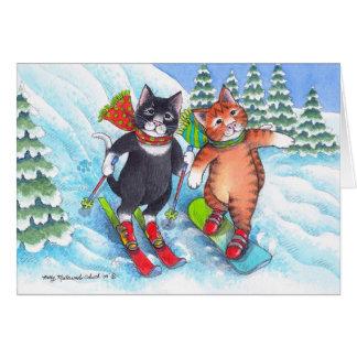 B & T #67 Ski/Snowboard Christmas Notecard Note Card