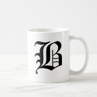 B-text Old English Basic White Mug