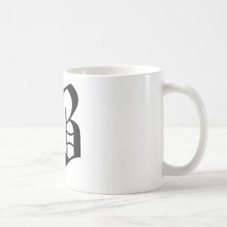 B-text Old English Basic White Mug