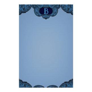 B - The Falck Alphabet (Blue) Stationery Design