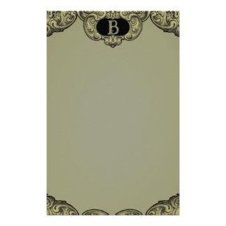 B - The Falck Alphabet (Golden) Stationery Design