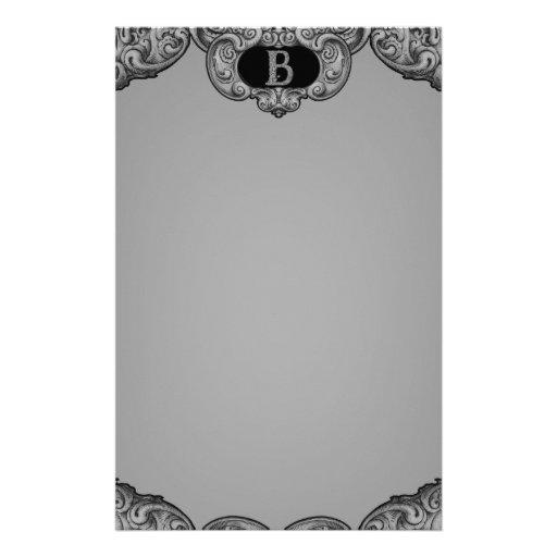 B - The Falck Alphabet (Silvery) Customized Stationery