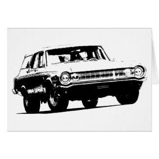 B&W +1964 Dodge Station Wagon Stationery Note Card