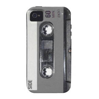 B W 1980s Vintage Cassette Case-Mate iPhone 4 Cases