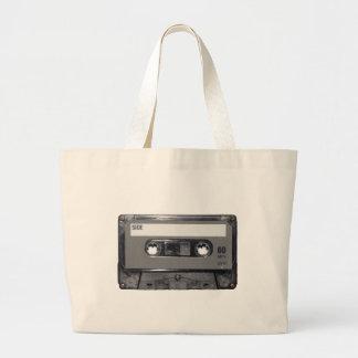 B&W 1980s Vintage Cassette Jumbo Tote Bag