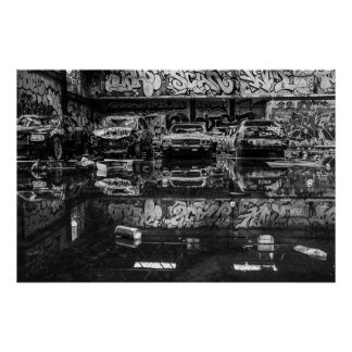 B&W Abandoned RC Cola Factory Poster