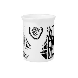 B & W Abstract Pattern Pitcher
