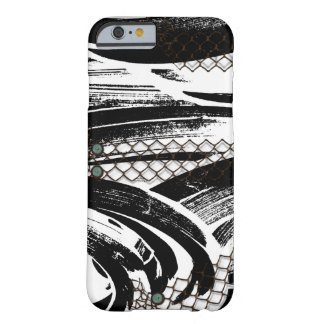 B&W Abstract with chicken wire patterns Barely There iPhone 6 Case