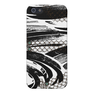 B&W Abstract with chicken wire patterns iPhone 5 Covers