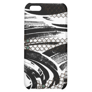 B W Abstract with chicken wire patterns iPhone 5C Covers