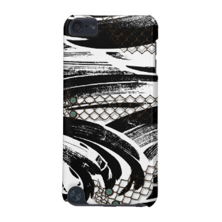 B&W Abstract with chicken wire patterns iPod Touch 5G Case