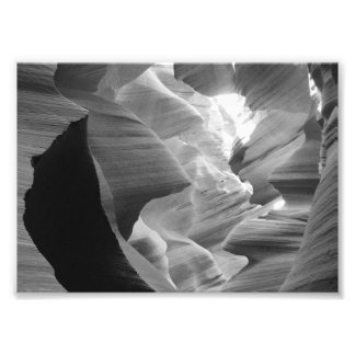 B&W Antelope Canyon 2 Photo