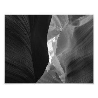 B&W Antelope Canyon 4 Photographic Print