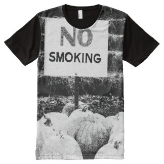 B&W Anti-Smoking Pumpkins All-Over Print T-Shirt