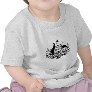 B/W Australia Coat Of Arms Tee Shirts