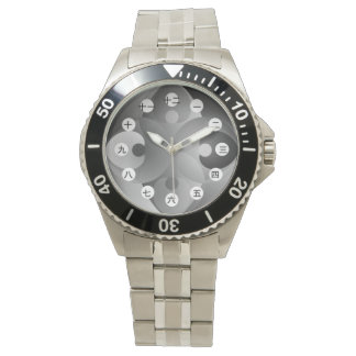 B/W Balance (Japanese Face) by Kenneth Yoncich Wristwatches