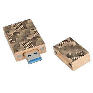 B/W Balance Wood USB 3.0 Flash Drive