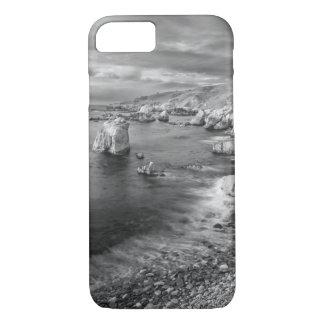 B&W beach coastline, California iPhone 8/7 Case