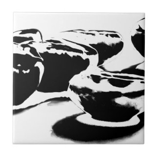 B&W Beans By Ben Small Square Tile