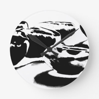 B&W Beans By Ben Wallclocks