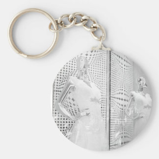 B&W Bride Basic Round Button Key Ring
