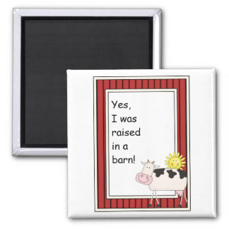 B & W Dairy Cow - Farmyard Barnyard Friend - Kids Magnet