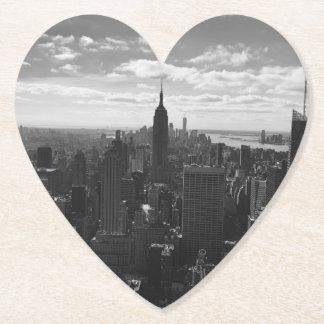 B&W Empire State Manhattan New York Coaster
