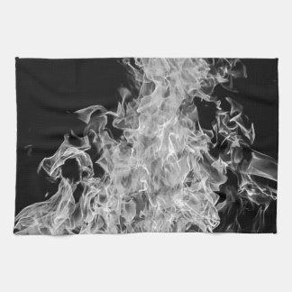 B&W Flame Tea Towel