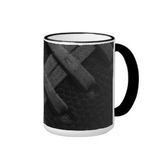 B&W Football Wrap-around 15oz Mug