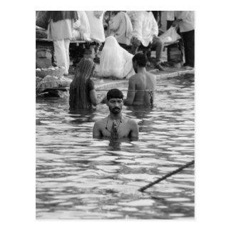 B&W Ganges River 2 Postcard