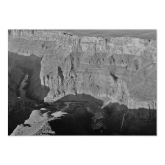 B&W Grand Canyon National Park 5 13 Cm X 18 Cm Invitation Card