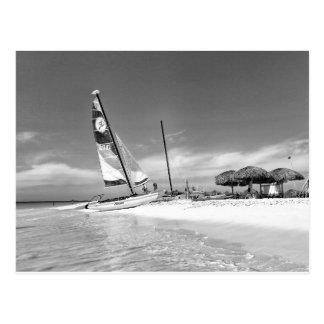 B&W Havana Beach Postcard