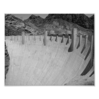 B&W Hoover Dam 2 Photo Print