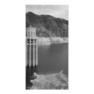 B&W Hoover Dam 4 Picture Card