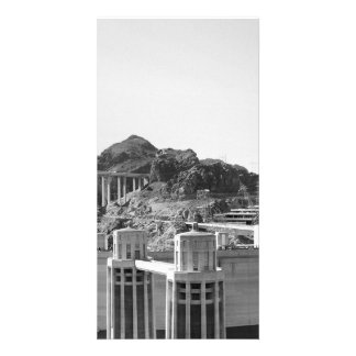 B&W Hoover Dam 5 Personalized Photo Card