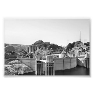 B&W Hoover Dam 5 Photo Art