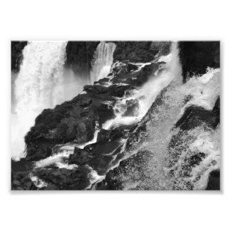B&W Iguazu Falls Photo Print