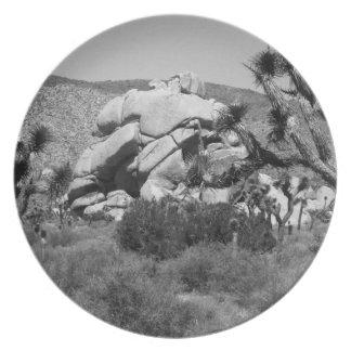 B&W Joshua Tree National Park 5 Plate